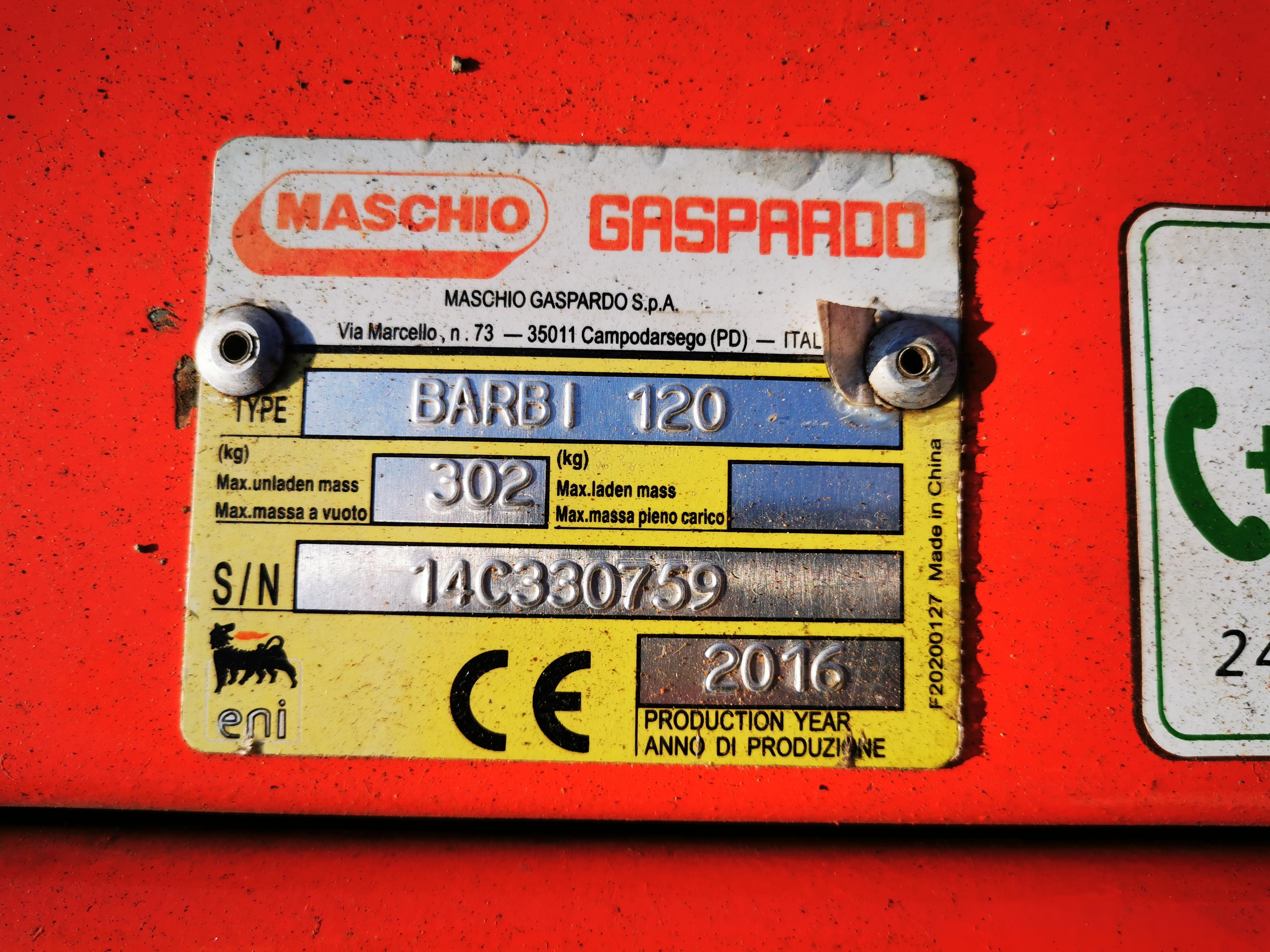 MULČER GASPARDO BARBI 120